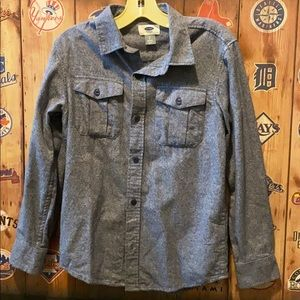 Old Navy flannel button down boys 8